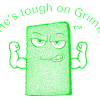 Introducing Mr. Scrubby™… He's tough on grime!